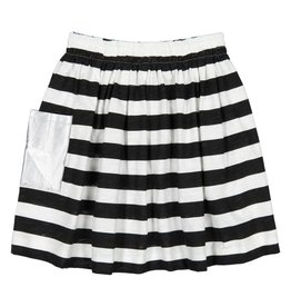 Teela Pocket Solid Skirt Black/White