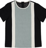 Belati COLOR BLOCKING SHIRT WITH BACK CLOSURE. BLACK