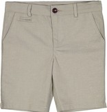 Belati Textured Linen Bermudas with Straight Pockets Beige