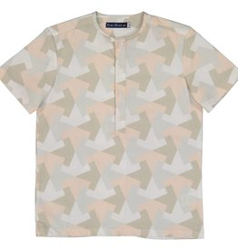 EURO CLUB COLLECTIONS COLLARLESS  SHIRT WITH ALL OVER MINT