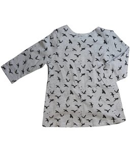 Whitlow & Hawkins TEE  BIRD WT/ GREY