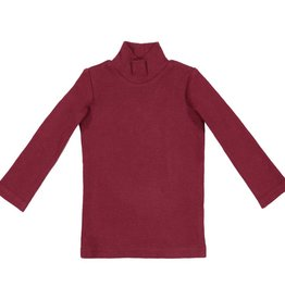 Lil leggs Burgundy Rib Turtleneck