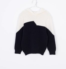 MOTORETA Hoodie Sweater Black & Off White
