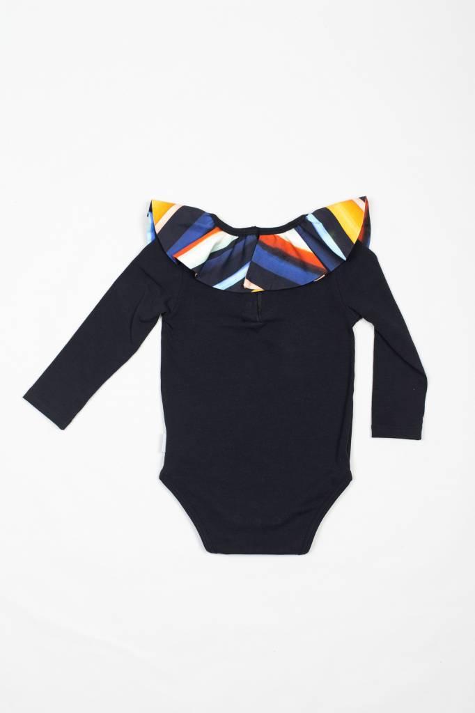 MOTORETA Collar Body Black & Multicolored Stripes