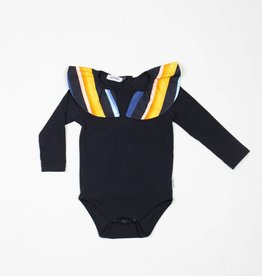 MOTORETA Collar Body Black & Multicolored Stripes