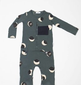 MOTORETA Pocket Jumpsuit Dark Green Motoreta Print