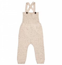 pompomme Baby Speckled Knit Romper Off White/Black