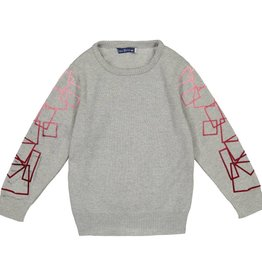 EURO CLUB COLLECTIONS CREW NECK SWEATER WITH VELVET CHARCOAL