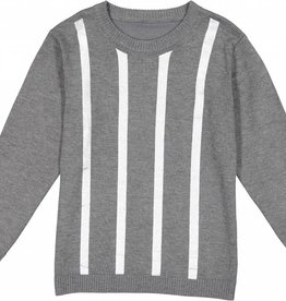 Nove Knit with Metallic Print Grey