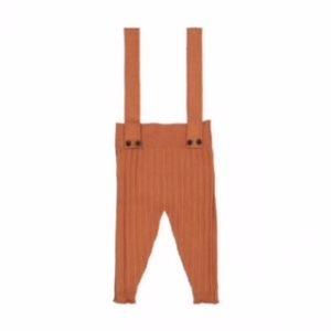 Belati Ribbed Suspender Pants Caramel