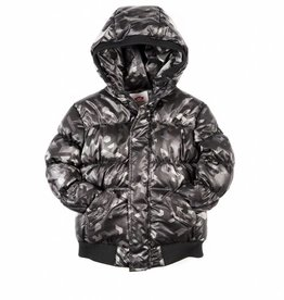Appaman Puffy Coat Black Geo