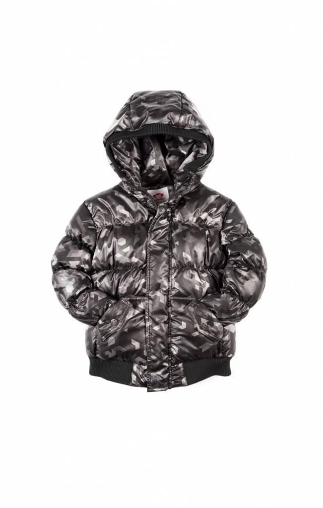 Appaman Puffy Coat Black Geo