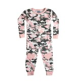 Baby Steps Pink Camo 2pc Pajama Set