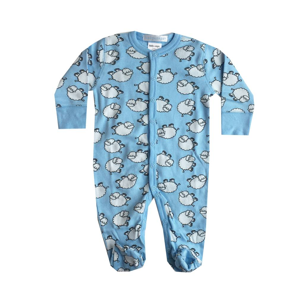 Baby Steps Blue Sheep Footie