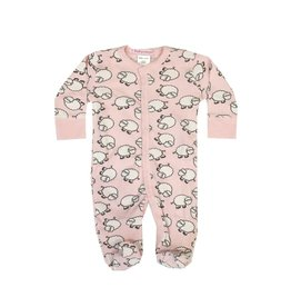 Baby Steps Pink Sheep Footie