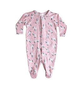 Too Sweet Pink Unicorn Footie