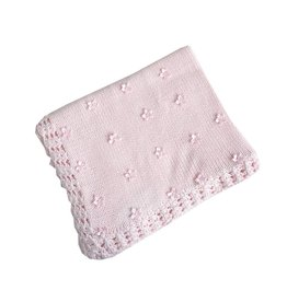 Gita Scattered Flowers Knitted Blanket