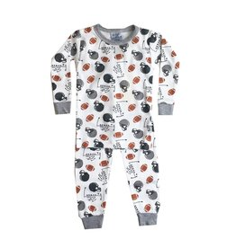 Baby Steps Football 2pc Pajama Set