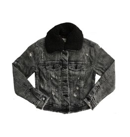 Tractr Black Denim Jacket