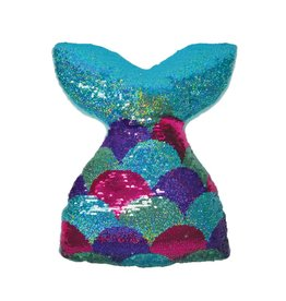 Mermaizing Reversible Sequin Pillow
