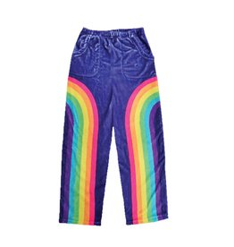 Rainbow Front Plush Lounge Pants