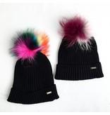 Bari Lynn Multi Pom Pom Hat (two colors)
