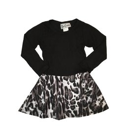 Dori Creations Grey Leopard Dress