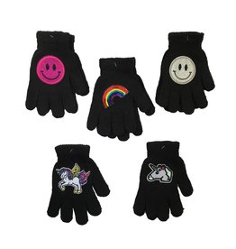 Black Gloves with Patches (4 styles)