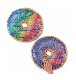 Reversible Sequin Donut Pillow