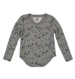 T2Love Mini Stars Top gray