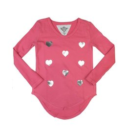 T2Love Silver Hearts Thumbhole Top