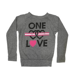 One Love Double Heart Thumbhole Top