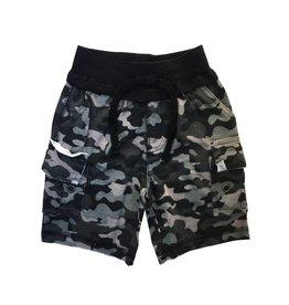 Mish Black Camo Cargo Shorts