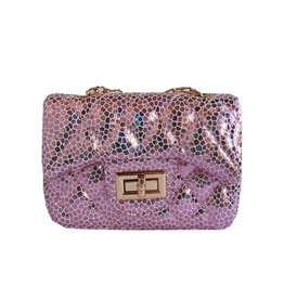 Popatu Holographic Pink Mini Purse