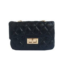 Popatu Black Quilted Mini Purse