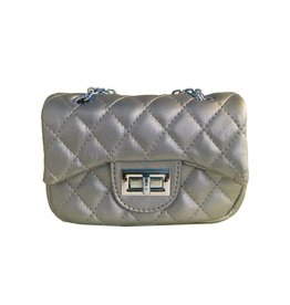 Popatu Gold Quilted Mini Purse