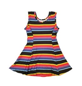 Social Butterfly Rainbow Stripe Tank Dress