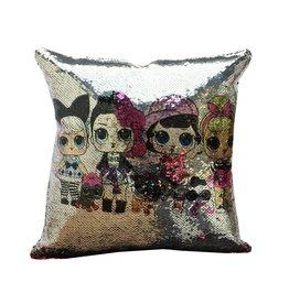 Multi LOL Dolls Reversible Sequin Pillow