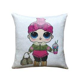 Frapp LOL Doll Reversible Sequin Pillow