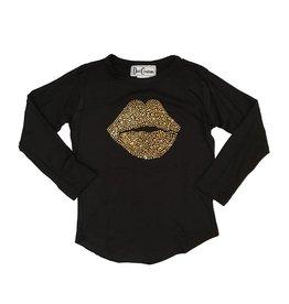 Dori Creations Gold Lips Top