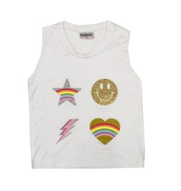 Firehouse Smile Icons Muscle Tank White