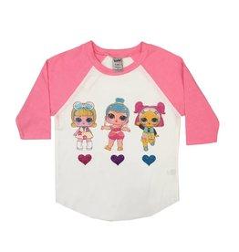 LOL Doll Pink Raglan Top