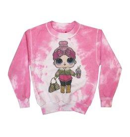 LOL Doll Crew Neck Tie Dye Sweatshirt