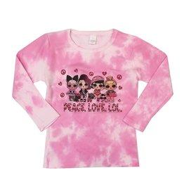 Peace Love LOL Tie Dye Top