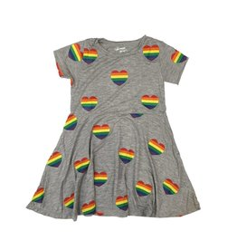 Flowers by Zoe Rainbow Hearts Toddler Dress