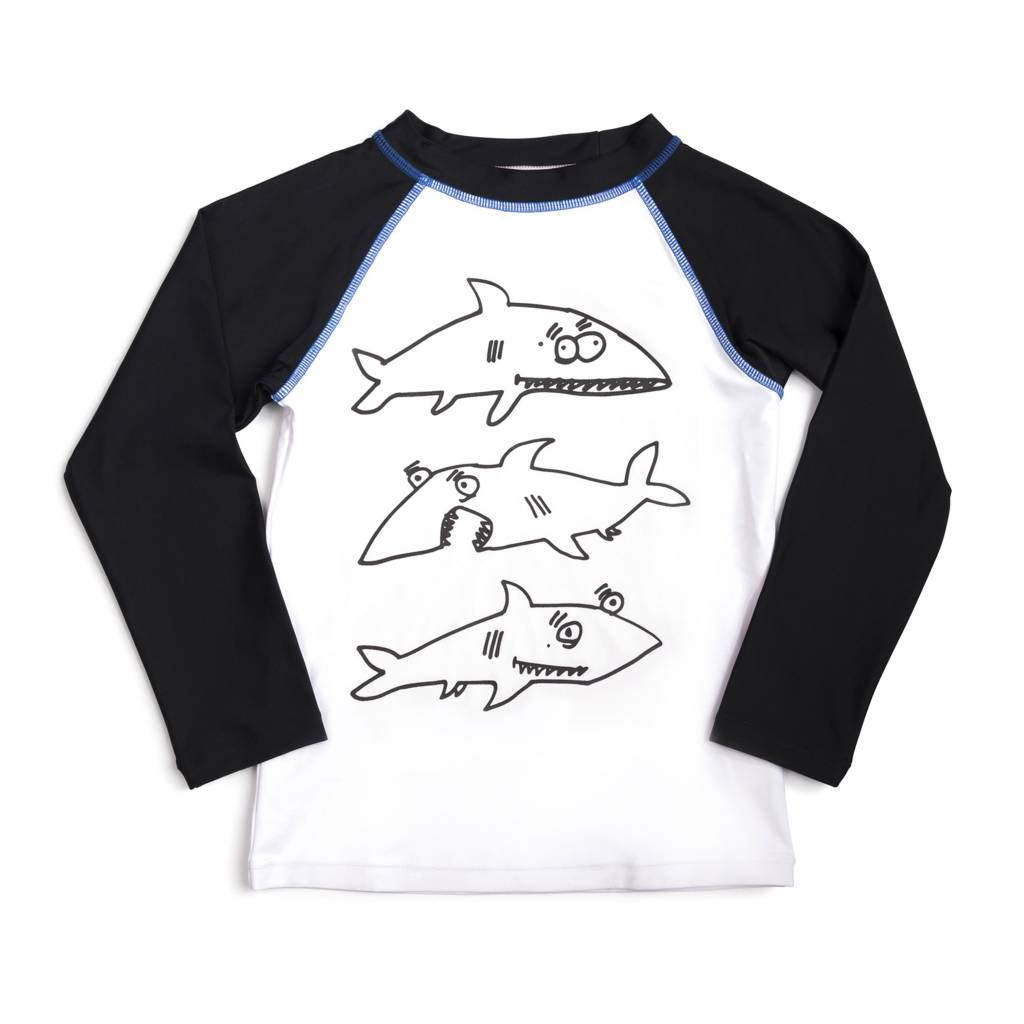 88255d49c5 Appaman Shark Frenzy Rash Guard - Precious Cargo