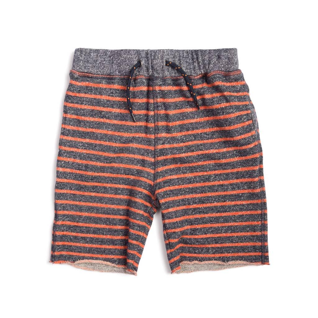 Appaman Orange Striped Infant Sweat Shorts