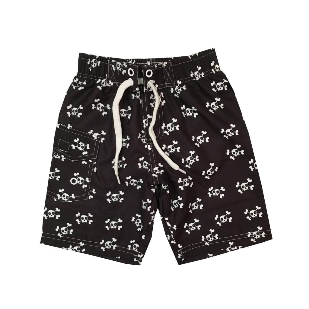 Mish Black Skull Print Swimsuit