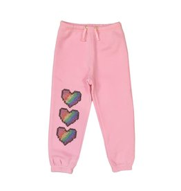Sparkle Digital Heart Sweatpants