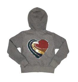 Sparkle Heart Swirl Zip Hoodie